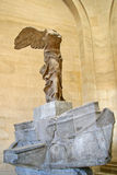 PARIS, FRANCE. The Winged Victory of Samothrace, also called the Nike of Samothrace in the Louvre museum Stock Image