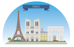 Paris. France. For you design Royalty Free Stock Photos