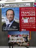 Paris,  Francois Hollande Candidate posters Stock Image