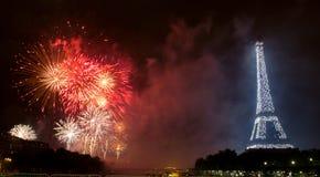 PARIS, FRANKREICH - 14. JULI. Nationaltag von Frankreich Stockfotos