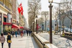 PARIS, FRANKREICH, CHAMPS-ELYSEES Lizenzfreies Stockbild