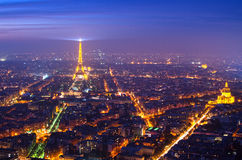 Paris (Frankreich) im Nebel Stockbild