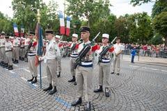 paris frankreich 14. Juli 2012 Die Ränge der fremden Legionäre während der Paradezeit auf dem Champs-Elysees in Paris Lizenzfreies Stockbild