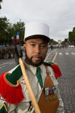 paris frankreich 14. Juli 2012 Pioniere vor der Parade auf dem Champs-Elysees in Paris Lizenzfreies Stockfoto