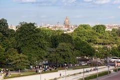 PARIS, FRANKREICH - 24. JUNI 2017: Ansicht der berühmten Haube von Les Invalides der nationale Wohnsitz des Invalids lizenzfreies stockbild
