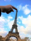 Paris Frankrike - December 30, 2014: Eiffeltorn arkivfoton