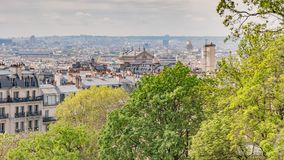 Paris Frankrike förbiser arkivbild