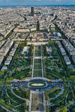 Paris Frankrike - flygbild Royaltyfria Bilder