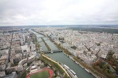 Paris Frankrike från över royaltyfri foto