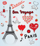 Paris Frankrike, förälskelse. Arkivbilder