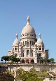 PARIS FRANKRIKE - JULI 19, 2016: Fasad av sacren-coeur Fotografering för Bildbyråer