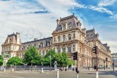 PARIS FRANKRIKE - JULI 08, 2016: Hotell de Ville i Paris, är Arkivfoton