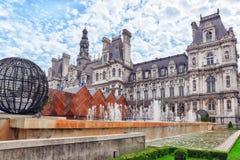 PARIS FRANKRIKE - JULI 08, 2016: Hotell de Ville i Paris, är Arkivfoto