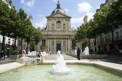 PARIS FRANKRIKE, 12 JULI, 2014 - Paris-Sorbonne universitet Arkivbilder