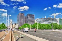 PARIS FRANKRIKE - JULI 09, 2016: Stadssikter av en av mest är Royaltyfri Foto