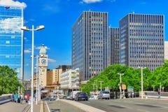 PARIS FRANKRIKE - JULI 09, 2016: Stadssikter av en av mest är Arkivbild