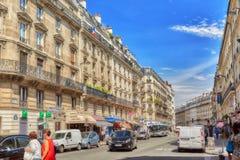 PARIS FRANKRIKE - JULI 08, 2016: Stadssikter av en av mest är Arkivbild