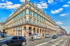 PARIS FRANKRIKE - JULI 06, 2016: Stadssikter av en av mest är Fotografering för Bildbyråer