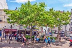PARIS FRANKRIKE - JULI 08, 2016: Stadssikter av en av mest är Royaltyfri Bild