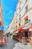 PARIS FRANKRIKE - JULI 08, 2016: Stadssikter av en av mest är Fotografering för Bildbyråer