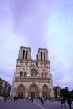 Paris Frankrike - Juni 7, 2016: Notre Dame Cathedral i Paris, Frankrike på Juni 7,2016 Royaltyfria Bilder