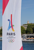 PARIS FRANKRIKE - Juni 26, 2017: Paris är stadskandidaten för OS Arkivfoton