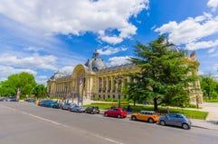 Paris Frankrike Juni 1, 2015: Stor slott på mästare Elysee med dess oerhörda fasad och härliga detaljer Arkivfoto