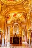 Paris Frankrike, mars 31 2017: Inre sikt av operamedborgaren de Paris Garnier, Frankrike Det byggdes från 1861 till Arkivbild