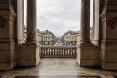 Paris Frankrike, mars 31 2017: Inre sikt av operamedborgaren de Paris Garnier, Frankrike Det byggdes från 1861 till Royaltyfri Foto