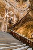 Paris Frankrike, mars 31 2017: Inre sikt av operamedborgaren de Paris Garnier, Frankrike Det byggdes från 1861 till Fotografering för Bildbyråer