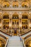 Paris Frankrike, mars 31 2017: Inre sikt av operamedborgaren de Paris Garnier, Frankrike Det byggdes från 1861 till Arkivbilder