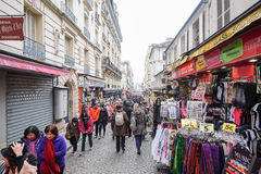 Paris Frankrike - mars 16: Paris på 16 mars 2015 i Paris, franc Arkivbild