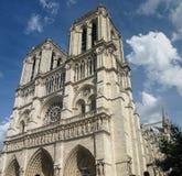 Paris Frankrike - Notre-Dame de Paris Arkivfoton