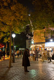PARIS FRANKRIKE - NOVEMBER 10, 2014 Montmartre smärtar den berömda konstnären Royaltyfria Bilder
