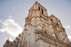 PARIS FRANKRIKE - OKTOBER 20, 2017: Domkyrkan av Notre Dame de Pari Notre Dame de Pari är den medeltida katolska domkyrkan på len Arkivbild