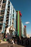 Paris Frankrike-September 19, 2015: Georges Pompidou mitt (Beaubou Fotografering för Bildbyråer