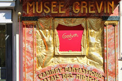 PARIS FRANKRIKE - SEPTEMBER 10, 2015: Grevin museum Arkivfoto