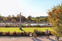 PARIS FRANKRIKE - SEPTEMBER 10, 2015: Jardin du Luxembourg Royaltyfria Foton