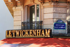 PARIS FRANKRIKE - SEPTEMBER 10, 2015: Letwickenham kafé Royaltyfri Foto