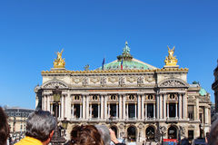 PARIS FRANKRIKE - SEPTEMBER 10, 2015: Paris opera Arkivbilder