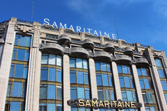 PARIS FRANKRIKE - SEPTEMBER 10, 2015: Samaritaine hotell Royaltyfri Foto