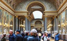PARIS FRANKRIKE - SEPTEMBER 12, 2015: Slott av versailles Royaltyfri Foto