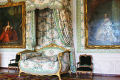 PARIS FRANKRIKE - SEPTEMBER 12, 2015: Slott av versailles Royaltyfria Foton