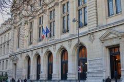 Paris Frankrike - 02/10/2015: Universitet av Paris, Sorbonne royaltyfria bilder
