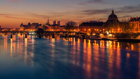 Paris, Frence: Seine river and Old Town of in sunrise Royalty Free Stock Image