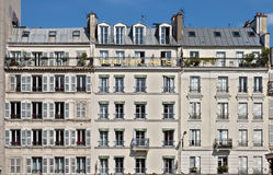 Paris - French architecture. PARIS, FRANCE - JUNE 11, 2014: View of the parisian architecture Stock Image