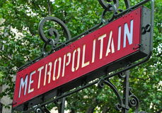 Paris gångtunneltecken Royaltyfria Foton
