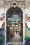 Paris, Galerie Vivienne entrance, passages Stock Photography