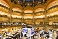 Paris Galeries Lafayette Royaltyfria Foton