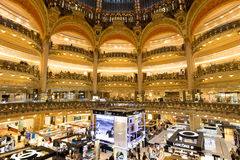 Paris Galeries Lafayette Royalty Free Stock Photos